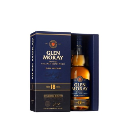 GLEN MORAY 18 YRS SINGLE MALT