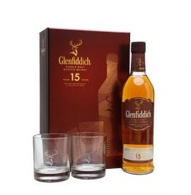 GLENFIDDICH 15YRS W/2 GLASS